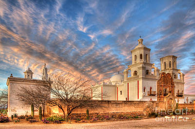 Mission San Xavier Del Bac 1 Poster by Bob Christopher