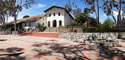 Mission Santa Barbara Church Poster by Panoramic Images