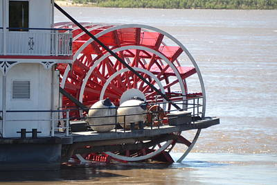 Mississippi Queen Ferry Wheel Poster by Kim Stafford