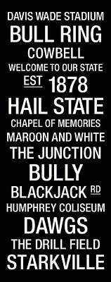 Mississippi State College Town Wall Art Poster by Replay Photos