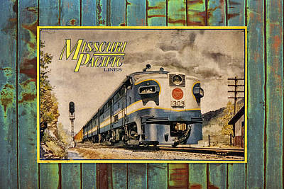 Missouri Pacific Lines Sign Engine 309 Dsc02854 Poster by Greg Kluempers
