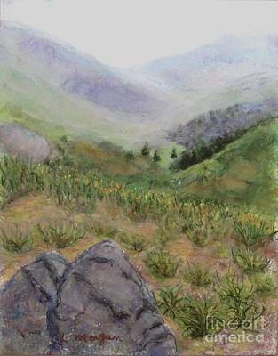 Mist In The Glen Poster by Laurie Morgan
