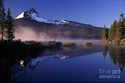 Mist Off Of Big Lake Poster by Joe Klune