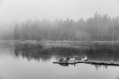 Mist On Lake Poster by Chris McKenna