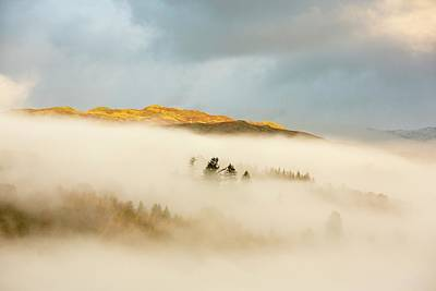 Mist Over Todd Crag Poster by Ashley Cooper