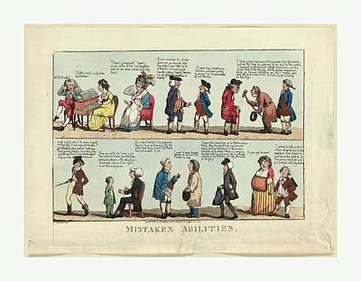 Mistaken Abilities, Engraving 1800, Several Individuals Poster
