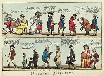 Mistaken Abilities, Woodward, G. M. George Moutard Poster