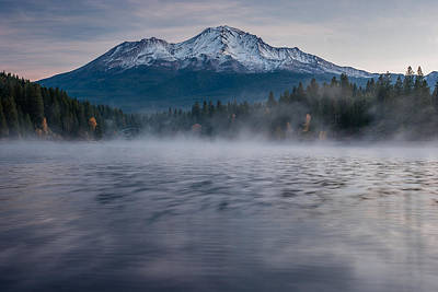 Mists On Siskiyou Lake Poster
