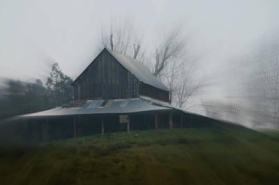 Misty Barn Poster