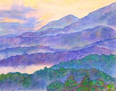 Misty Blue Ridge Poster by Kendall Kessler