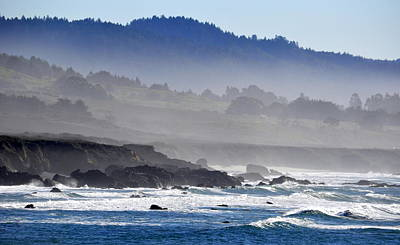 Poster featuring the photograph Misty Coast by AJ  Schibig