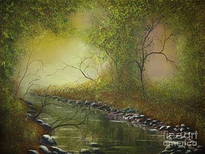 Misty Creek Poster by Tim Townsend