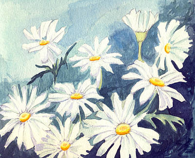 Misty Daisies Poster by Katherine Miller