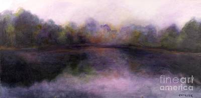 Poster featuring the painting Misty Morning by Alison Caltrider