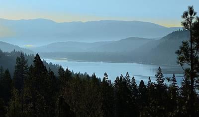 Misty Morning At Donner Lake Poster