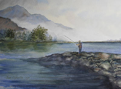 Poster featuring the painting Misty Morning by Jan Cipolla