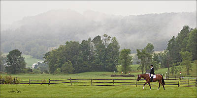 Poster featuring the photograph Misty Morning Ride by Joan Davis