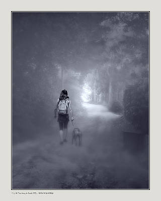 Misty Path Poster by Pedro L Gili