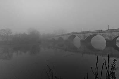 Misty Richmond Bridge Poster by Maj Seda
