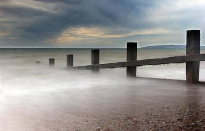 Misty Seascape Poster