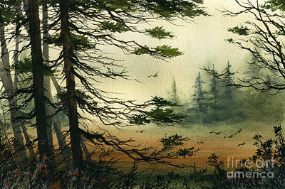 Misty Tideland Forest Poster by James Williamson