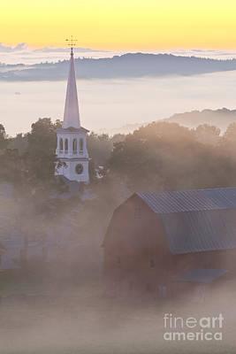 Misty Vermont Dawn Poster by Alan L Graham