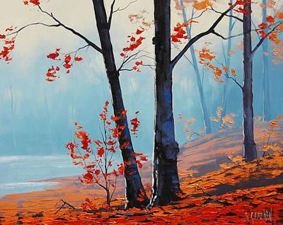 Misty Woodland Poster