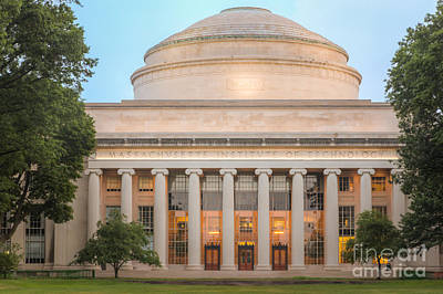 Mit Building 10 And Great Dome I Poster by Clarence Holmes