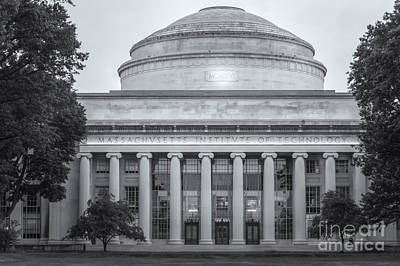 Mit Building 10 And Great Dome II Poster by Clarence Holmes