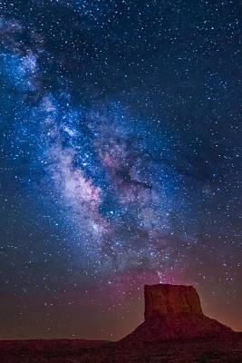 Mitchell Butte Milky Way Poster by Joe Kopp