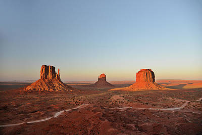 Mittens And Merrick Butte Monument Valley Poster by Christine Till