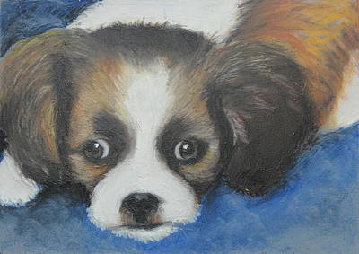 Poster featuring the painting Mitzy by Jeanne Fischer