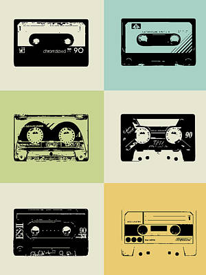 Mix Tape Poster Poster by Naxart Studio