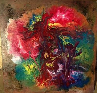 Mixed Media Abstract Post Modern Art By Alfredo Garcia Bizarre Poster