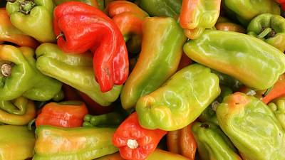 Mixed Pepper Shapes Poster by Mark Victors