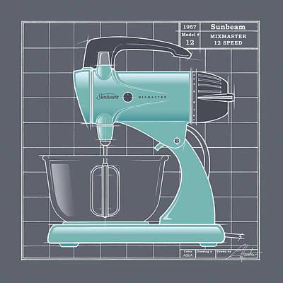 Mixmaster - Aqua Poster