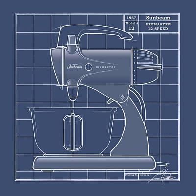 Mixmaster - Blueprint Poster