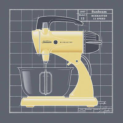 Mixmaster - Yellow Poster