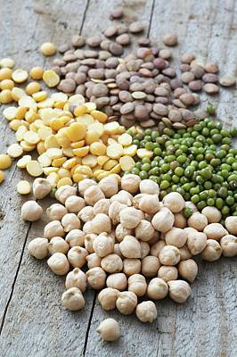 Mixture Of Peas And Lentils Poster by Gustoimages
