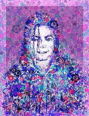 Mj Floral Version Poster by Bekim Art