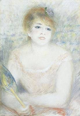 Mademoiselle Jeanne Samary Poster by Pierre Auguste Renoir
