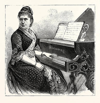 Mme. Julia Rive-king, American Pianist And Composer Poster by American School