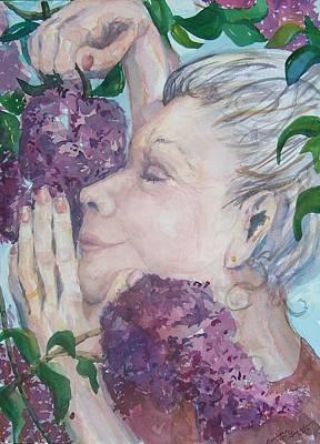 Mmmm Lilacs Poster by Barbara McGeachen