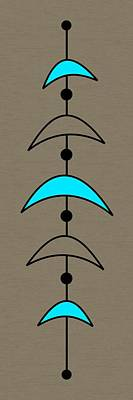 Mobile 4 In Turquoise Poster by Donna Mibus