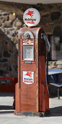 Mobilgas Special - Wayne Gas Pump Poster by Mike McGlothlen