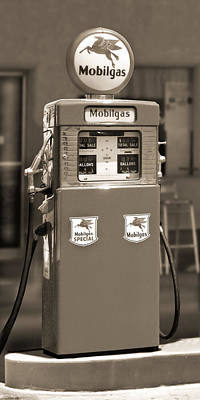 Mobilgas - Wayne Double Gas Pump 2 Poster by Mike McGlothlen