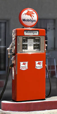 Mobilgas - Wayne Double Gas Pump Poster by Mike McGlothlen