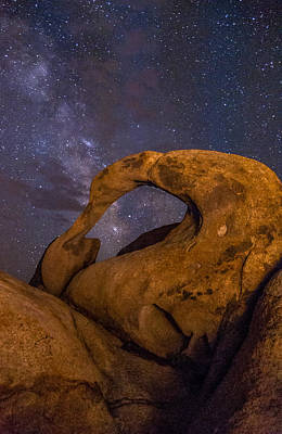 Mobius Arch And Milky Way Poster