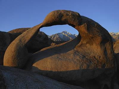 Mobius Arch And Snow Capped Peak Poster