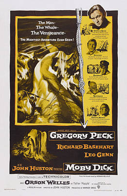 Moby Dick, Us Poster Art, Gregory Peck Poster